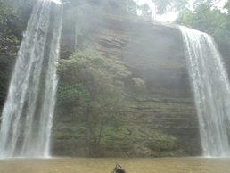 boti waterfalls in Eastern Ghana