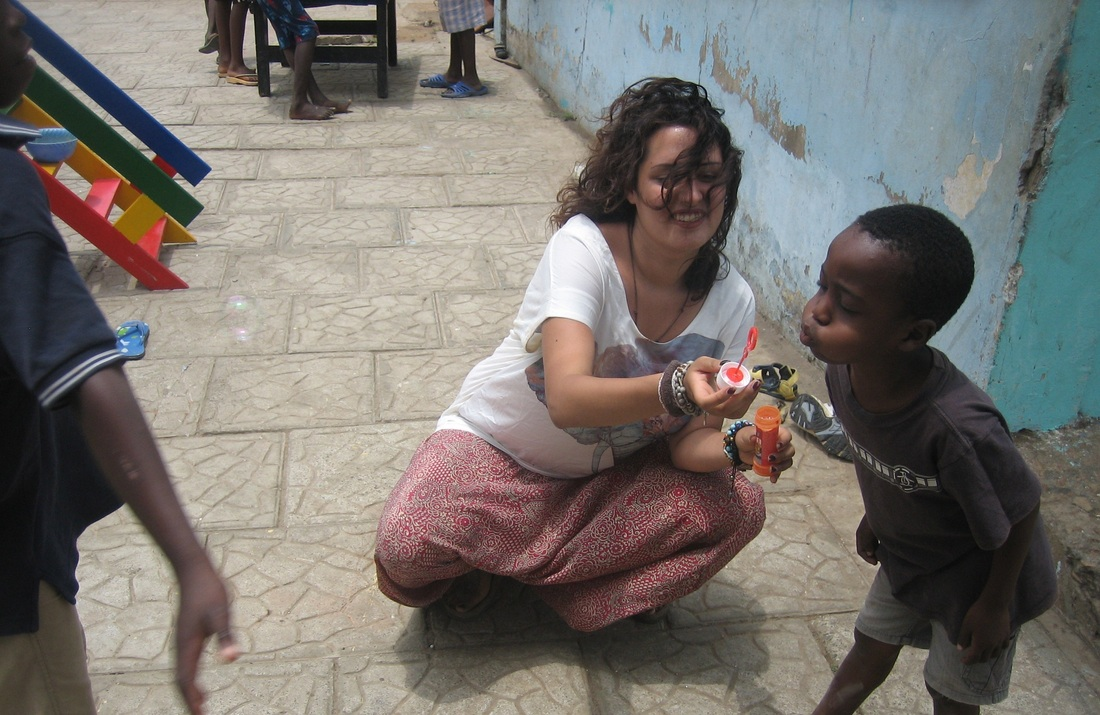 Caring for children at the Orphanage, Ghana.